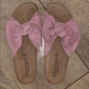 Jeffrey Campbell Birkenstock Style Pink Bow Sandal